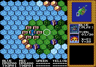 Master of Monsters (Japan) In game screenshot