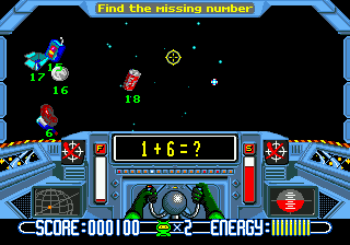 Math Blaster - Episode 1 (USA) In game screenshot