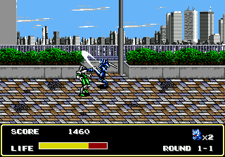 Mazin Saga Mutant Fighter (USA) In game screenshot