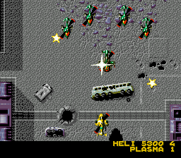Mega SWIV (Europe) In game screenshot