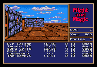 Might and Magic - Gates to Another World (USA, Europe) In game screenshot