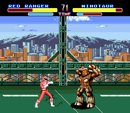 Mighty Morphin Power Rangers (Europe) In game screenshot