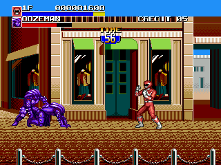 Mighty Morphin Power Rangers - The Movie (Europe) In game screenshot