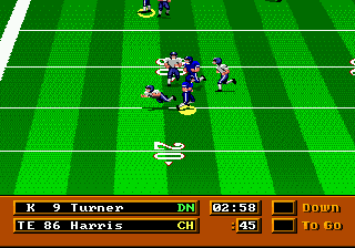 Mike Ditka Power Football (USA) In game screenshot