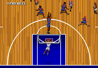 NBA Action '95 Starring David Robinson (USA, Europe) In game screenshot