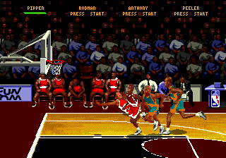 NBA Hang Time (Europe) In game screenshot