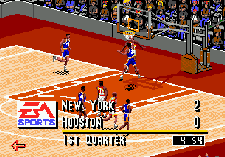 NBA Live 95 (USA, Europe) In game screenshot