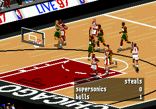 NBA Live 97 (USA, Europe) In game screenshot