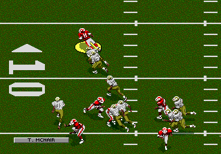 NFL Football '94 (Japan) In game screenshot