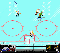 NHL Hockey (USA) In game screenshot
