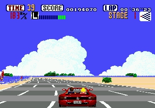 OutRun (Japan) In game screenshot