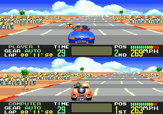 OutRunners (USA) In game screenshot