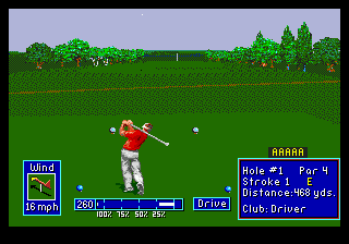 PGA European Tour (USA, Europe) In game screenshot