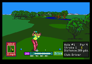 PGA Tour Golf (USA, Europe) (v1.2) In game screenshot