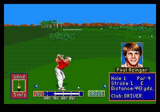 PGA Tour Golf II (Japan) In game screenshot