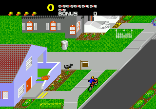 Paperboy (Japan) In game screenshot