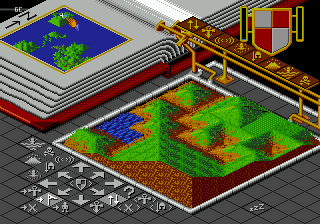 Populous (Europe) In game screenshot