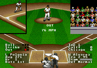 R.B.I. Baseball 94 (USA, Europe) In game screenshot