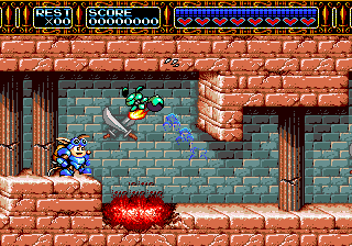 Rocket Knight Adventures (Japan) In game screenshot
