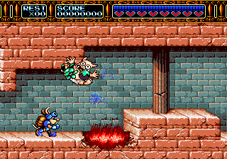 Rocket Knight Adventures (USA) In game screenshot