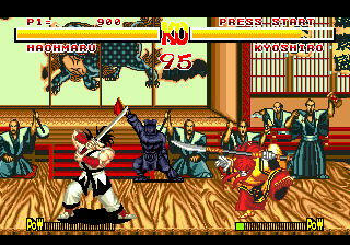 Samurai Shodown (USA) In game screenshot