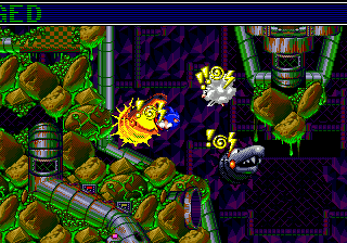 Sonic Spinball (Europe) In game screenshot