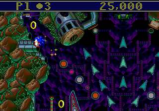 Sonic Spinball (USA) In game screenshot