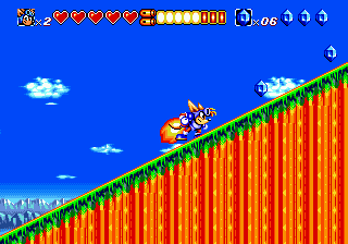 Sparkster (Europe) In game screenshot