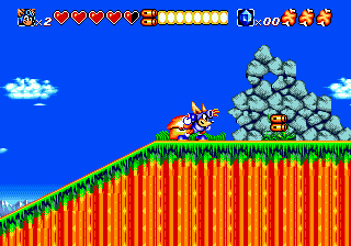 Sparkster - Rocket Knight Adventures 2 (Japan) In game screenshot