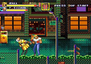 Streets of Rage 2 (USA) In game screenshot