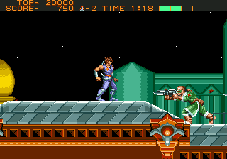 Strider (USA, Europe) In game screenshot