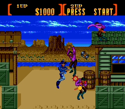 Sunset Riders (USA) In game screenshot