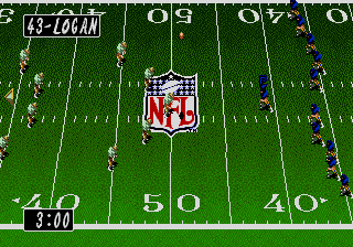 Tecmo Super Bowl II (USA) In game screenshot