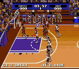 Tecmo Super NBA Basketball (USA) In game screenshot