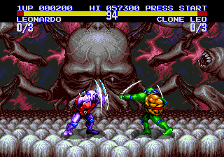 Teenage Mutant Ninja Turtles - Tournament Fighters (Japan) In game screenshot