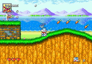 Tiny Toon Adventures - Buster's Hidden Treasure (Europe) In game screenshot