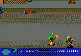 Toxic Crusaders (USA) In game screenshot
