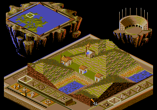 Two Tribes - Populous II (Europe) In game screenshot