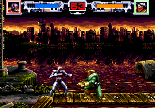 VR Troopers (USA, Europe) In game screenshot