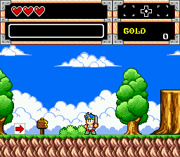 Wonder Boy in Monster World (USA, Europe) In game screenshot
