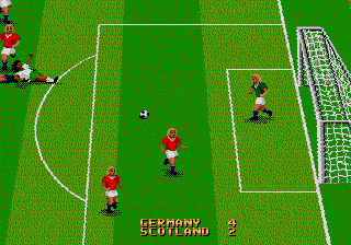 World Championship Soccer II (USA) (Beta) In game screenshot