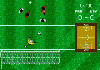 World Cup Italia '90 (Europe) In game screenshot