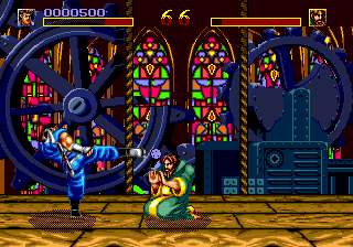 World Heroes (USA) In game screenshot