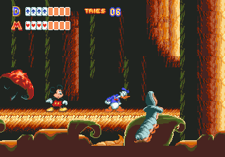 World of Illusion Starring Mickey Mouse and Donald Duck (Europe) In game screenshot