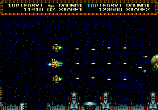 Zero Wing (Europe) In game screenshot