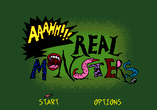 AAAHH!!! Real Monsters (USA, Europe) Title Screen