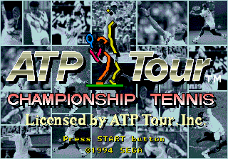 ATP Tour Championship Tennis (USA) Title Screen