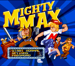Adventures of Mighty Max, The (Europe) Title Screen