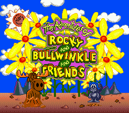Adventures of Rocky and Bullwinkle and Friends, The (USA) Title Screen