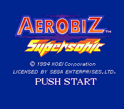 Aerobiz Supersonic (USA) Title Screen